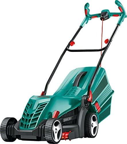 Bosch Rotak 36R lawn mower.