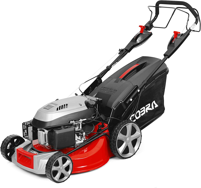 Cobra MX534SPCE petrol lawn mower.