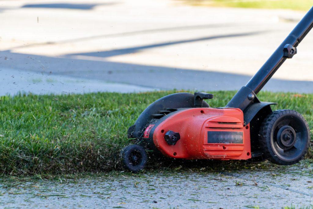 An electric lawn edger.