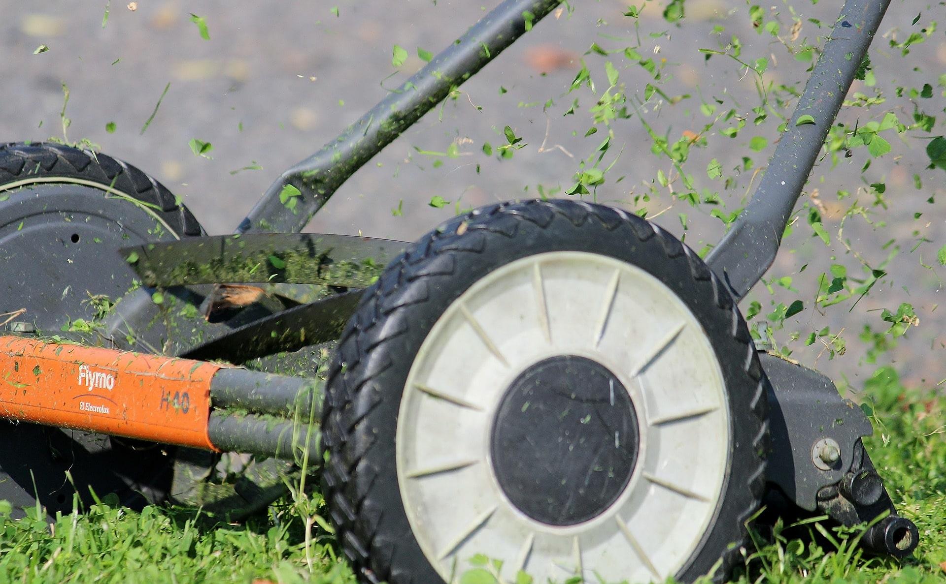 Flymo manual lawn mower.