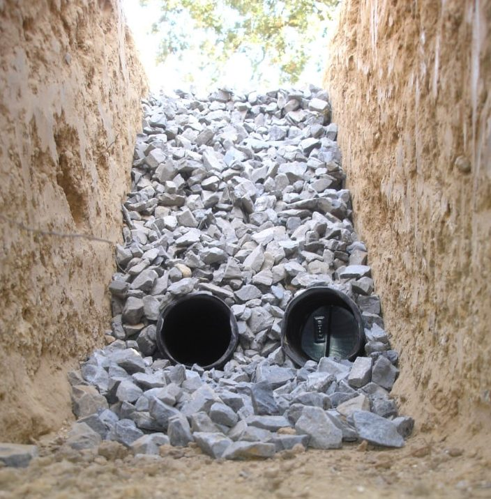French drain system.