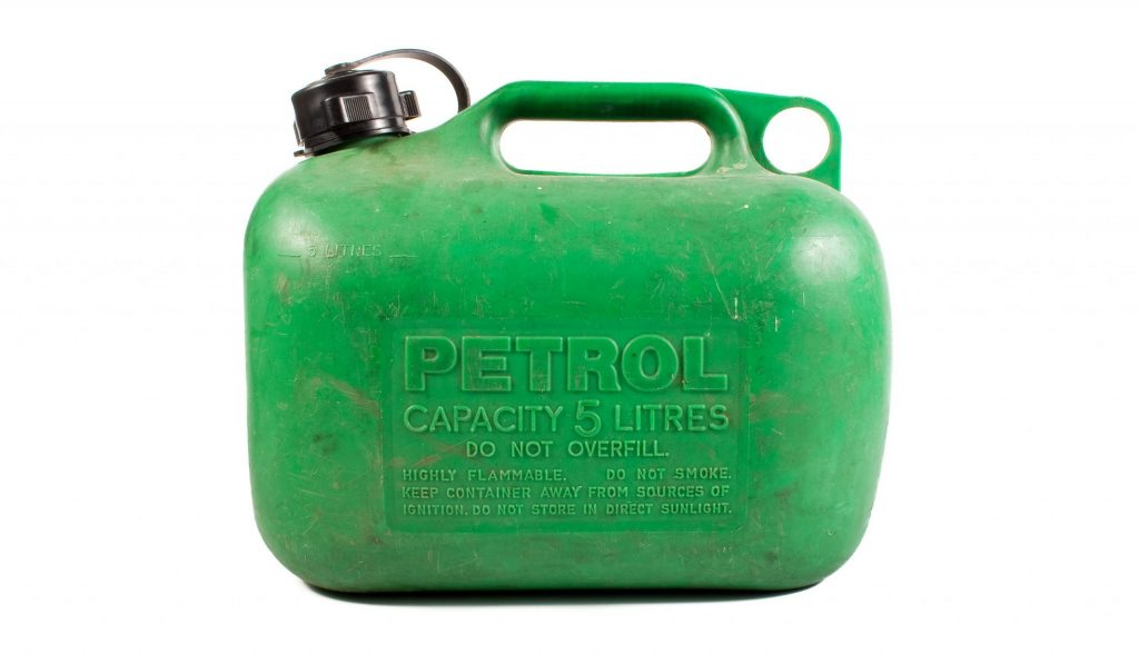 Green British jerry can.