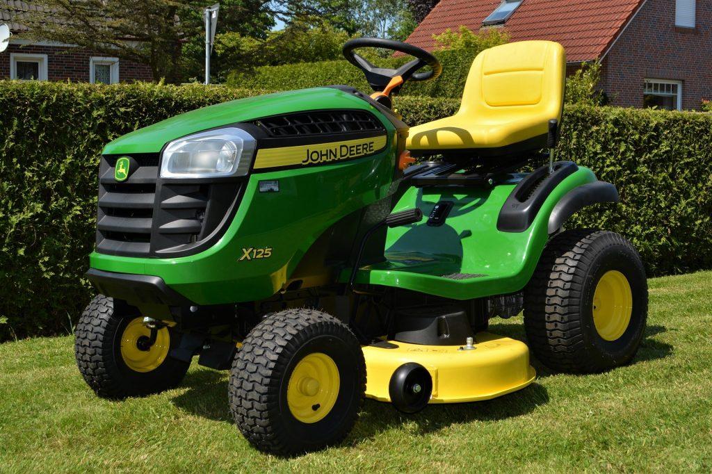 John Deere lawn tractor.