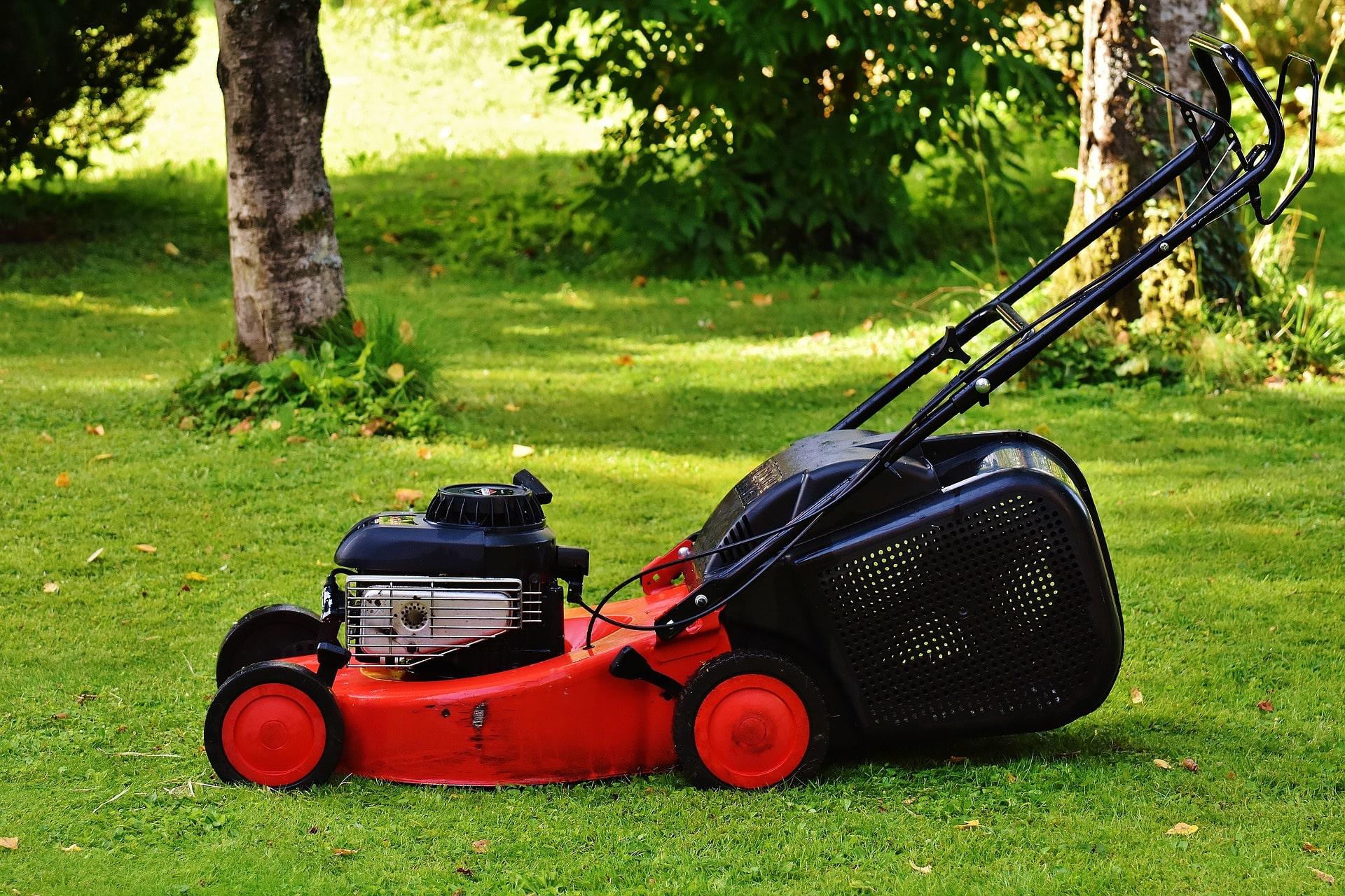Einhell petrol lawn mower.