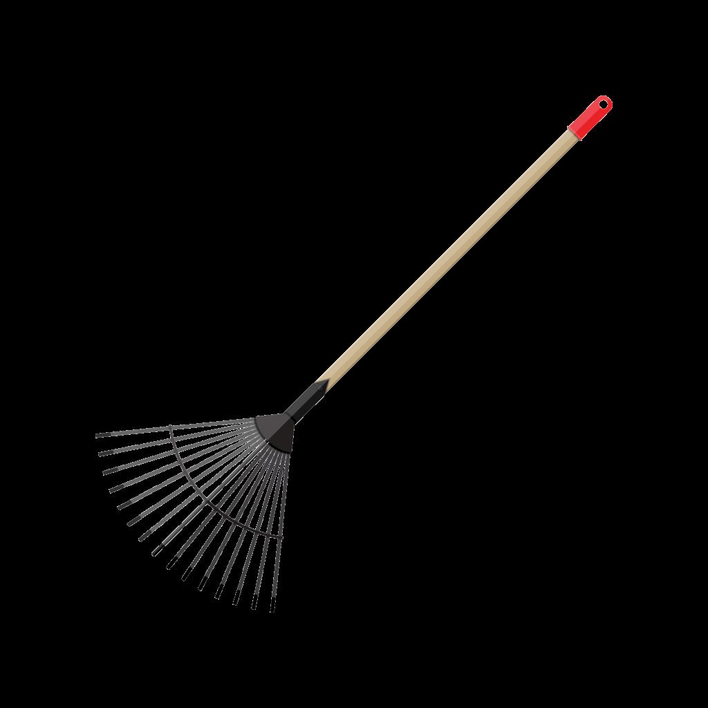 Lawn rake graphic.